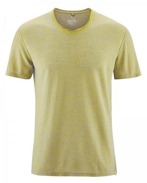 Meliertes V-Ausschnitt T-Shirt
