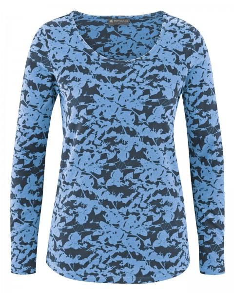 NEU! Langarmshirt mit Blätterprint
