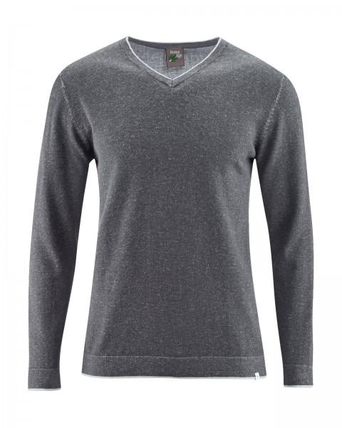 V-Kragen-Pullover