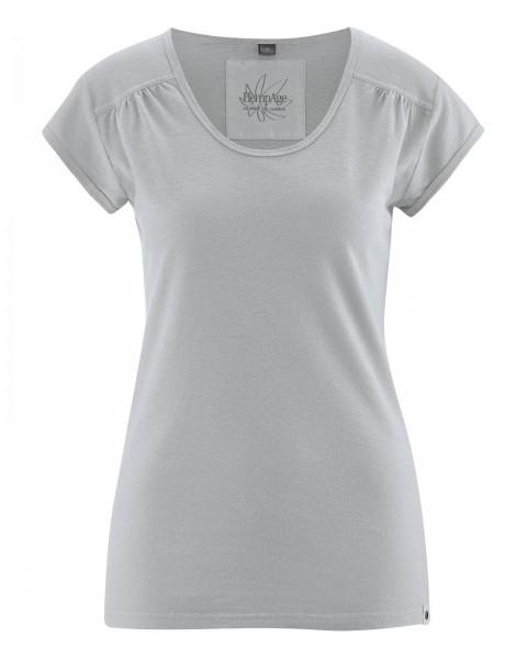 T-Shirt mit Zierfalten
